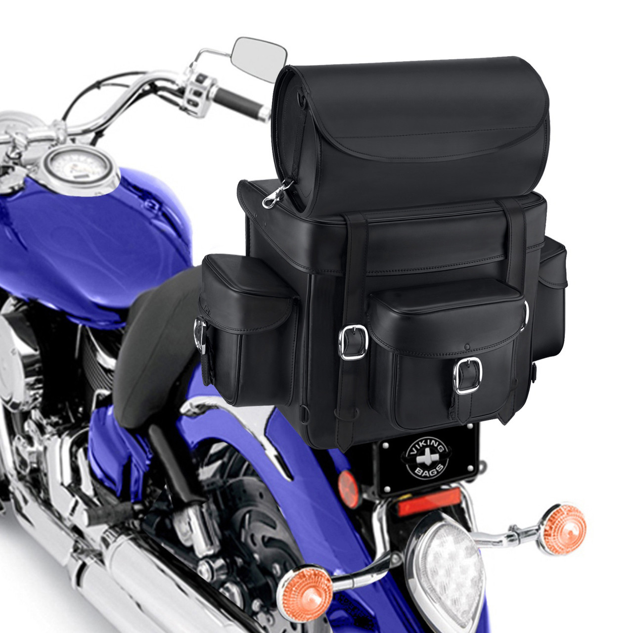 Revival Series Large Sissy Bar Bag On Bike Zoom View