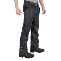 Nomad USA Braided Motorcycle Leather Chaps