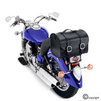 Nomad USA Leather Black Motorcycle Trunk