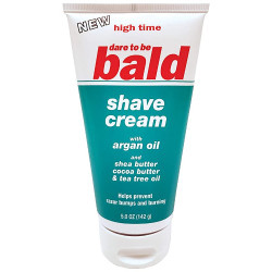 High Time Dare To Be Bald Shave Cream w/ Argan Oil 4.75 oz