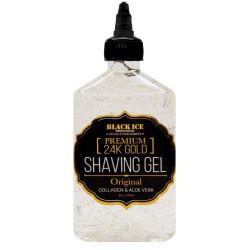 Black Ice Premium 24K Gold Shaving Gel- Original 8 oz
