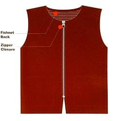 Black Ice Barber Mesh Vest Red Size Large