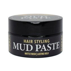 Black Ice Hair Styling Mud Paste Matte Finish Lasting Hold 2.82 oz