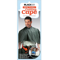 Black Ice Cutting Cape Black See Through