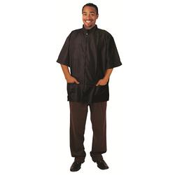 Black Ice Barber Jacket Black Size L