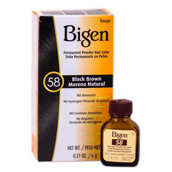 Bigen Permanent Hair Color - 58 Black Brown