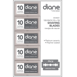 Diane Double Edge Shaving Blades - 100ct