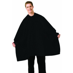 Betty Dain Seersucker Barber Cape - Solid Black