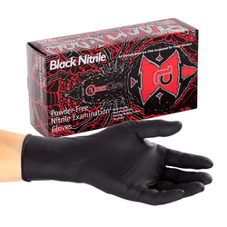 Black Nitrile Blackwidow Gloves 100 Pack - Large