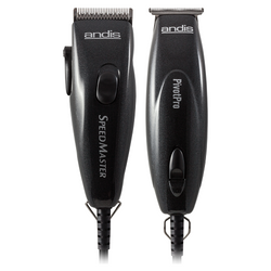 Andis Professional Pivot Clipper and Trimmer Combo - Black
