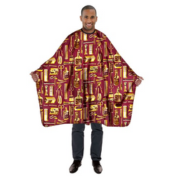 Betty Dain Gold & Burgundy Limited Edition Styling Cape
