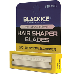 Black Ice Hair Shaper Razor Blades 60 pc