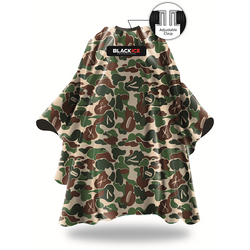 Black Ice Camo Barber Cape