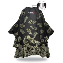 Black Ice Money Shower Barber Cape