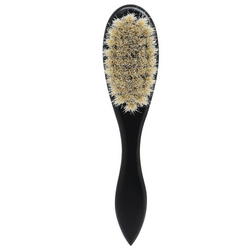 Black Ice Beard Soft Horse Tail Hair Handle Brush