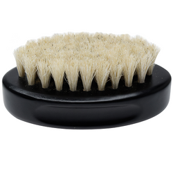 Black Ice Beard Soft Horse Tail Hair Palm Brush