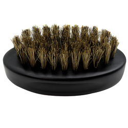 Black Ice Beard Hard Natural Bristle Palm Brush