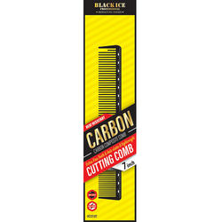"Black Ice Carbon Cutting Comb 7"""