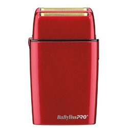 BaByliss Pro Cordless Metal Double Foil Red Shaver