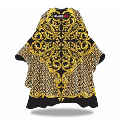 Black Ice Baroque Leopard Barber Cape
