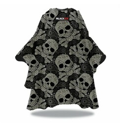Black Ice Paisley Skull Barber Cape