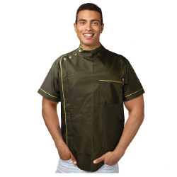 Black Ice Professional Rich Gold Barber Jacket Small