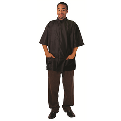 Black Ice Barber Jacket Black Size S
