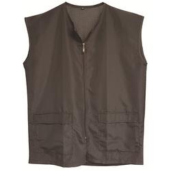 Black Ice Barber Mesh Vest Black Size Large