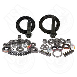 USA Standard Gear & Install Kit package for Jeep XJ & YJ with Dana 30 REV front and Model 35 rear, 4.56 ratio. This is a complete package that includes front & rear ring & pinion sets along with the most complete master overhaul kits on the market, giving you everything you need to re-gear the front & rear differential in one easy part number.