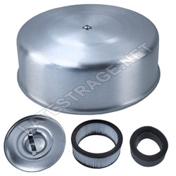 """2 stage 10"""" round aluminum air filter with 2 5/8"""" neck"""