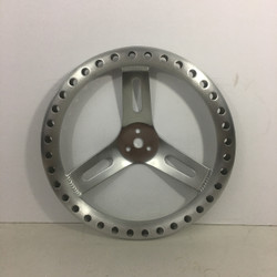 "13"" aluminum dished 3 bolt racing steering wheel with holes"