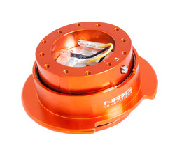 NRG 2.5 STEERING WHEEL QUICK RELEASE ORANGE BODY WITH TITANIUM CHROME RING