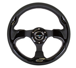 NRG 320MM SPORT STEERING WHEEL WITH BLACK TRIM