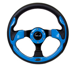 NRG 320MM SPORT STEERING WHEEL WITH BLUE TRIM