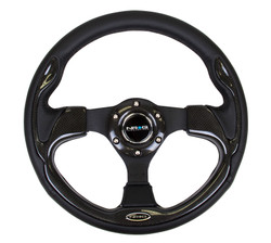 NRG 320MM SPORT STEERING WHEEL WITH REAL CARBON FIBER TRIM