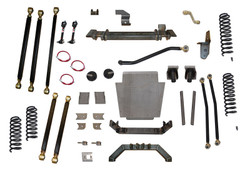 Jeep Cherokee 6.5 Inch Pro Series 3 Link Long Arm Lift Kit W/Rear Coil Conversion 84-01 XJ Clayton Off Road