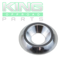 "SILVER ANODIZED ALUMINUM BODY WASHER WITH 3/4"" OD WITH X 1/4"" ID, WITH BEVELED ID"