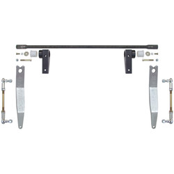 JK Antirock Front Sway Bar Kit W/Aluminum Frame Bracket And Arms Currie Enterprises