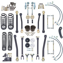 JK 2-Door 4 Inch Off Road Suspension System W/Front And Rear Sway Bar Links Currie Enterprises