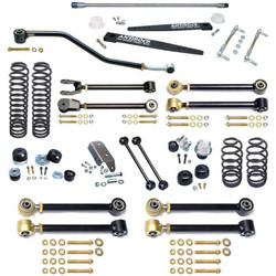 LJ Unlimited Johnny Joint 4 Inch Suspension System W/Antirock For Up To 35 Inch Tires Currie Enterprises
