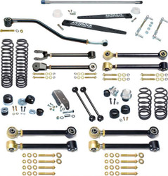 TJ Johnny Joint 4 Inch Suspension System W/Antirock For Up To 35 Inch Tires Currie Enterprises