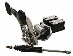 """Jamar Performance pedal assembly with roller gas pedal and slave cylinder 5/8"""" clutch and 3/4"""" brake master cylinder"""