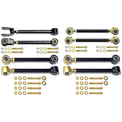 TJ/LJ Johnny Joint Control Arm Set W/Double Adjustable Rear Uppers 8 Pieces Currie Enterprises