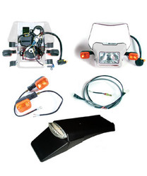 EZ Mount Kick LED, White Dual Sport Kit Baja Designs