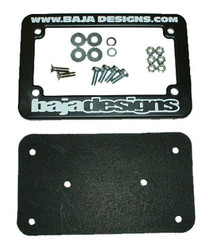 Motorcycle License Plate Frame W/Hardware Baja Designs