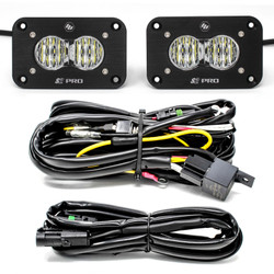 Flush Mount LED Light Pod Kit Wide Cornering Pair S2 Pro Baja Designs