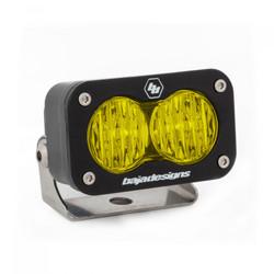LED Work Light Amber Lens Wide Cornering Pattern Each S2 Sport Baja Designs