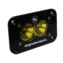 LED Work Light Amber Lens Spot Pattern Flush Mount Each S2 Sport Baja Designs