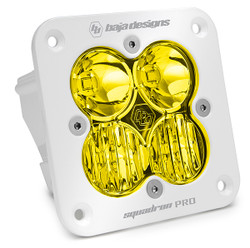 Flush Mount LED Light Pod White Amber Lens Driving/Combo Pattern Squadron Pro Baja Designs