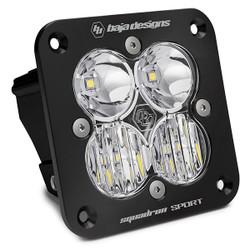 Flush Mount LED Light Pod Black Clear Lens Driving/Combo Pattern Squadron Sport Baja Designs